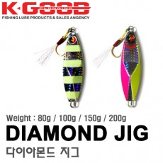 DIAMOND METAL JIG 80g 100g 150g 200g / 다이아몬드 메탈 지그 80g 100g 150g 200g